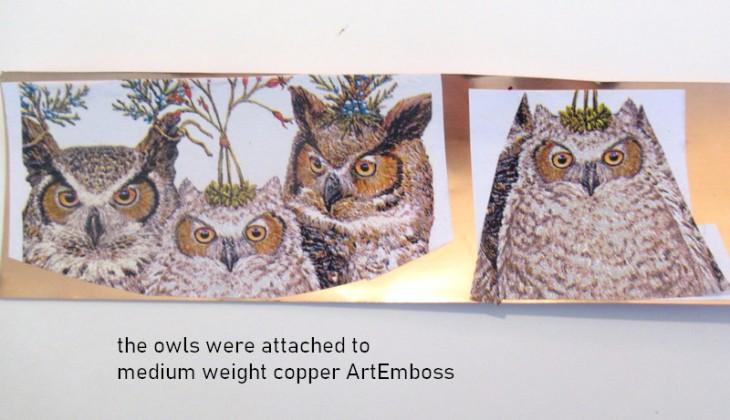 owl napkin step two