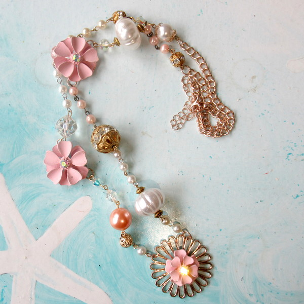 pink necklace makeover feature