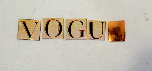 vogue words on artemboss