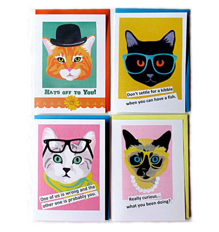 four cats feature