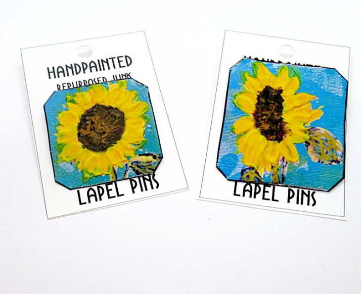 sunflower lapel pins new feature