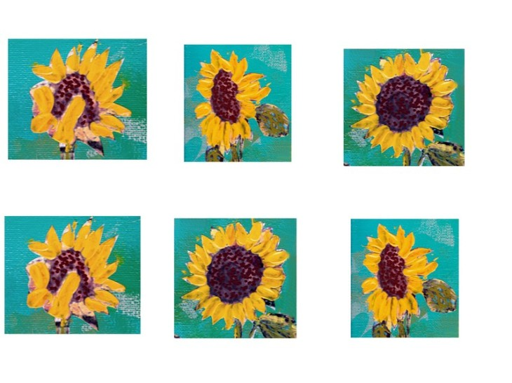 sunflower printout photo for pdf