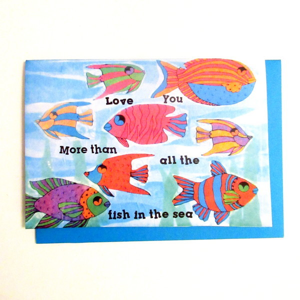 kids craft fish card feature