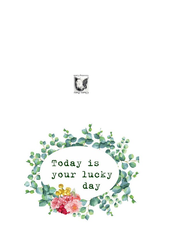lucky day photo for pdf