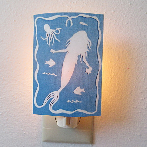 mermaid night light daytime