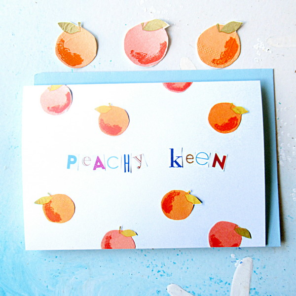 peachy keen card feature