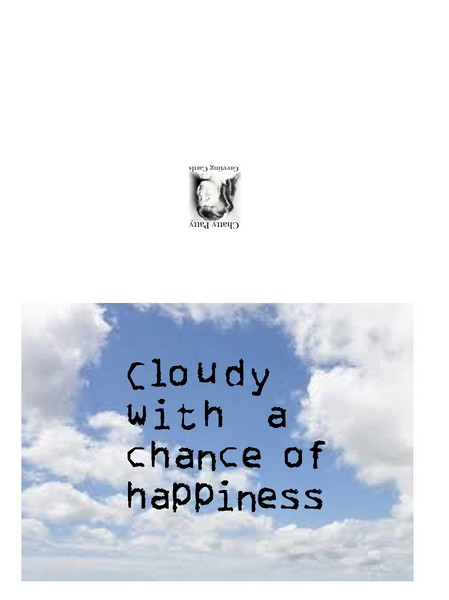 cloudy with a chance of happiness card photo for pdf