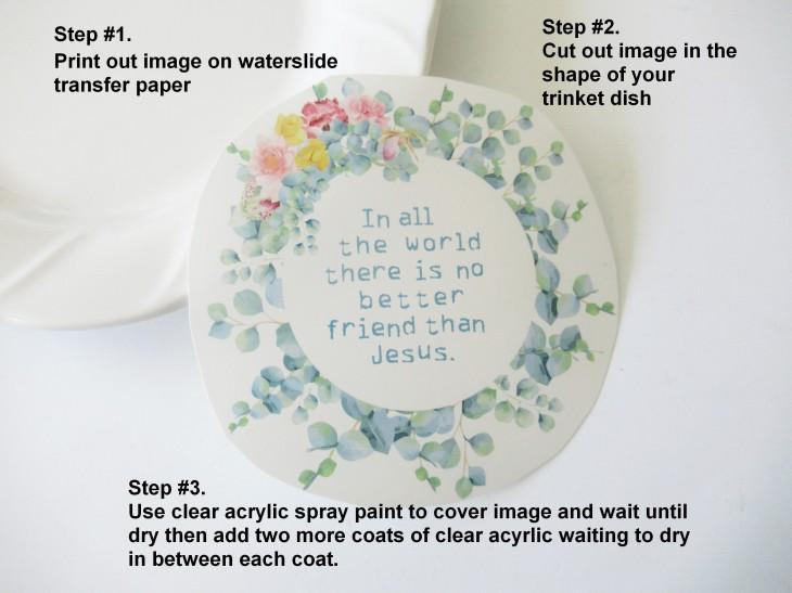 trinket dish steps