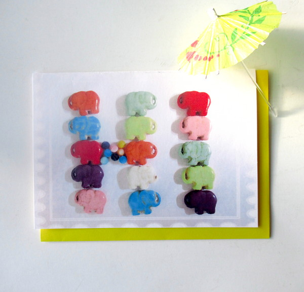 card hi elephant beads feature