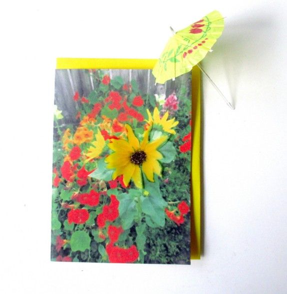 card sunflower