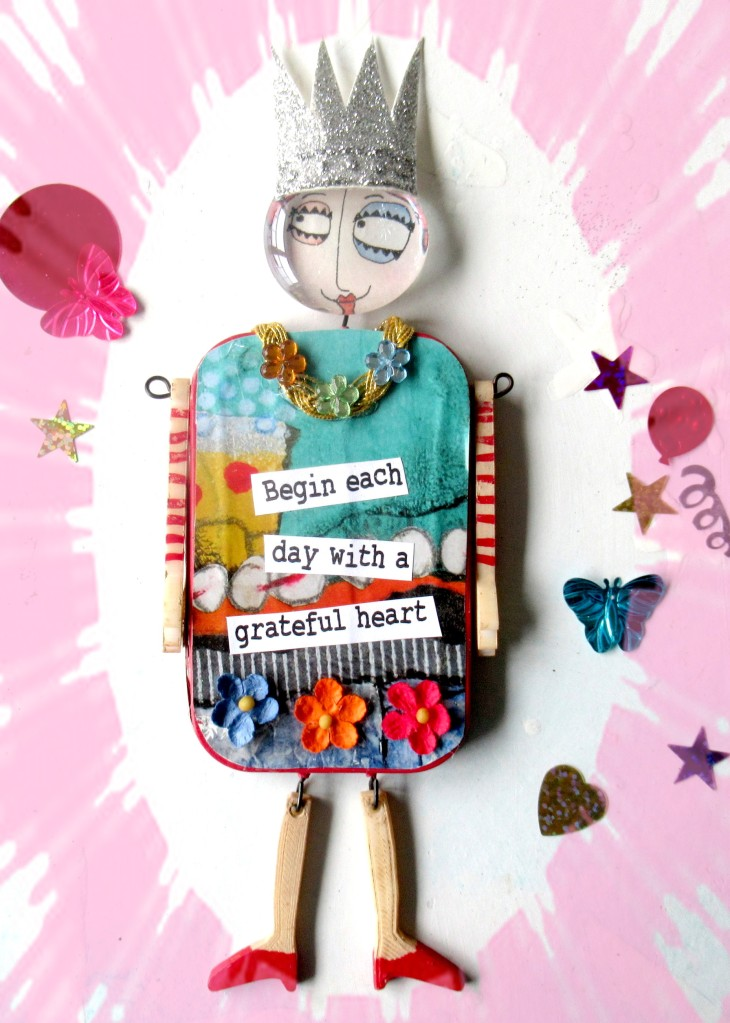 grateful heart doll for greeting card start