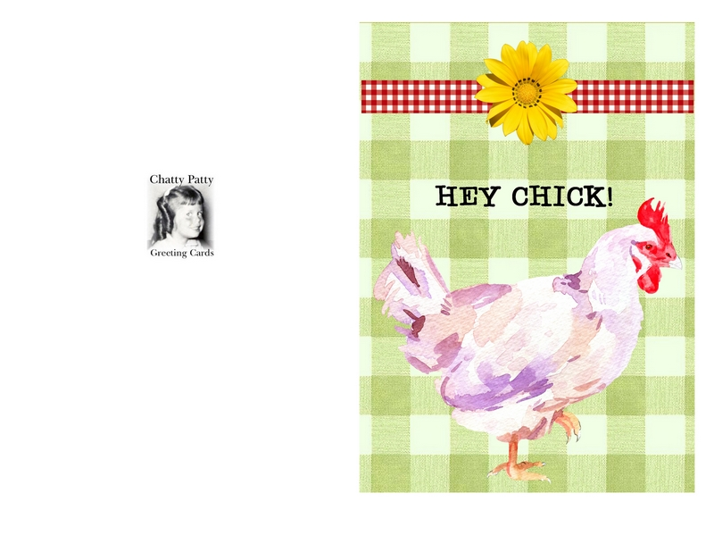 card hey chick card for pdf
