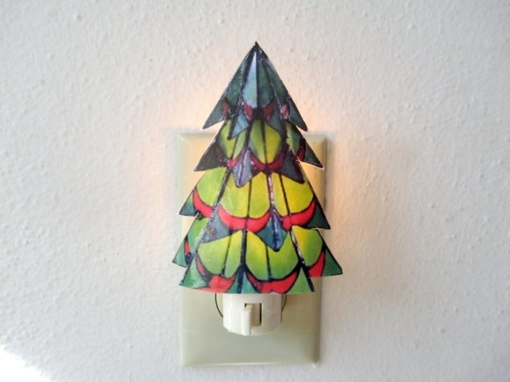 christmas tree night light feature