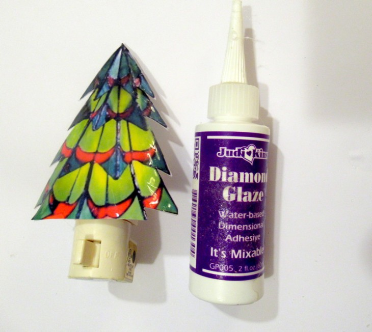 christmas tree night light glaze