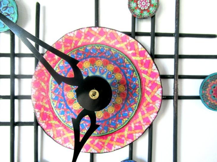 mandala clock face