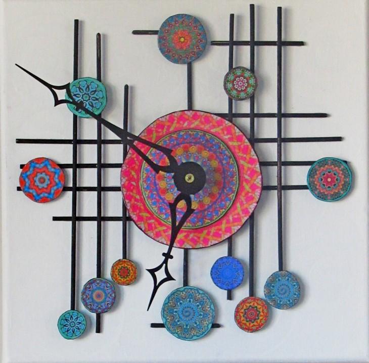 mandala clock front