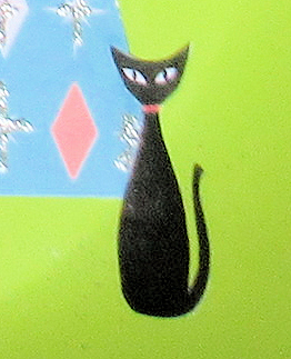 retro atomic advent calendar cat