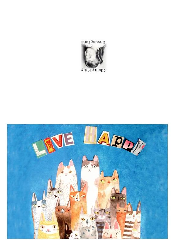 cat friends live happy photo pdf