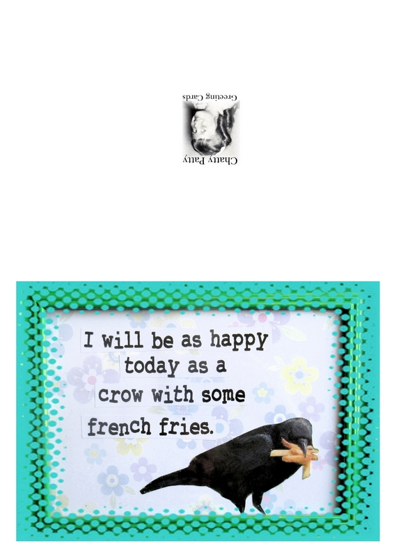 crow with french fries photo for pdf