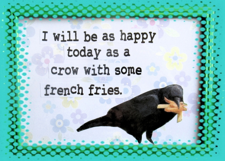 green crow with french fries corel feature