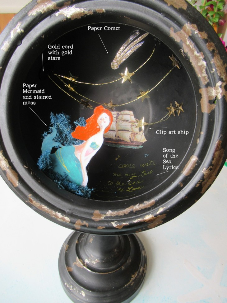 Repurposed Clock piece 1 Song of the Sea Assemblage