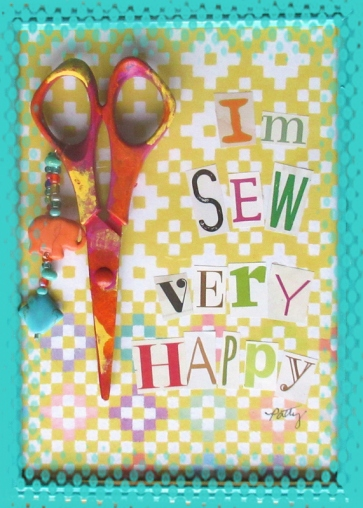 SEW VERY HAPPY card front