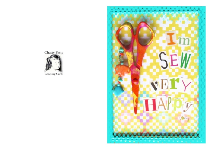 sew very happy greeeting card photo for pdf