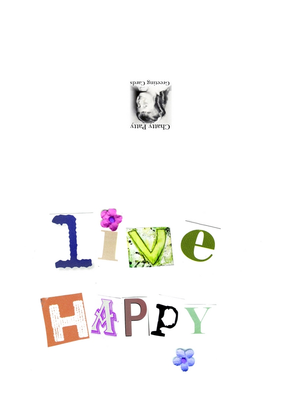 live happy greeting card photo for pdf