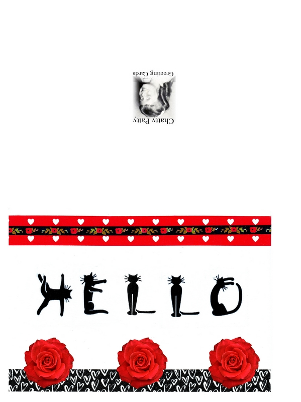 cat hello card photo for for pdf