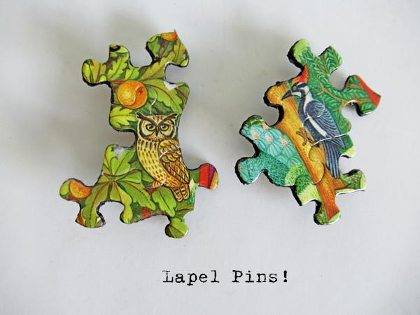 jigsaw puzzle lapel pins