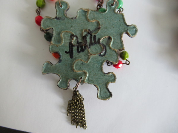 jigsaw puzzle small necklace back