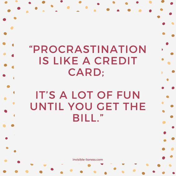 procrastionation 1