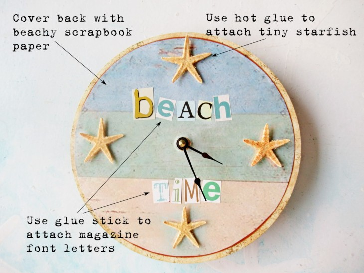 repurposed beach clock info