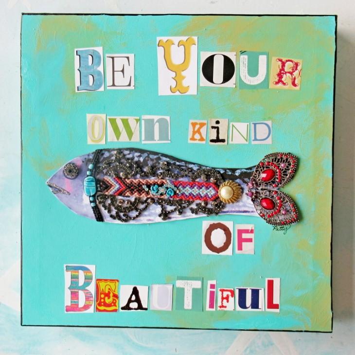 repurposed junk jewelry beautiful fish