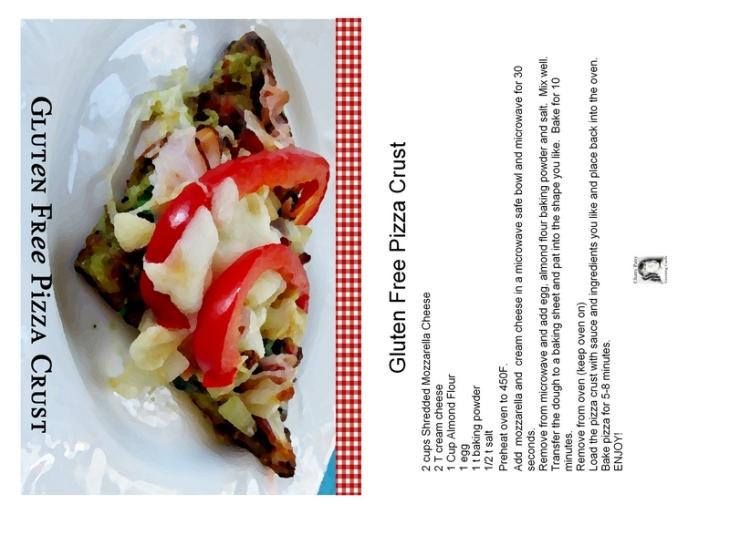 gluten free pizza crust with recipe photo