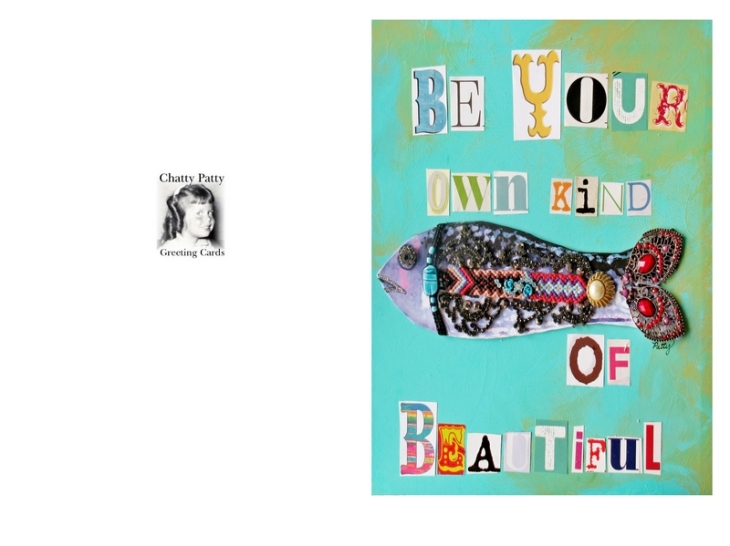 your own kind of beautiful card.photo for pdf