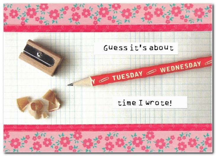 cavallini pencil greeting card feature