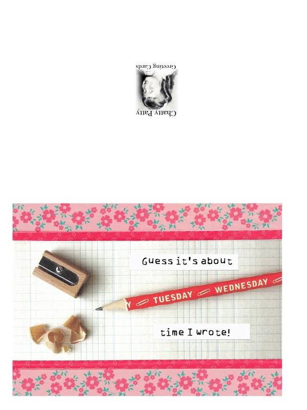 cavallini pencil greeting card photo for